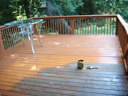 Deck Staining Project Charlotte NC